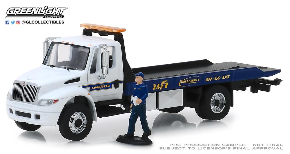 Camión Durastar con rampa y figura de mecánico