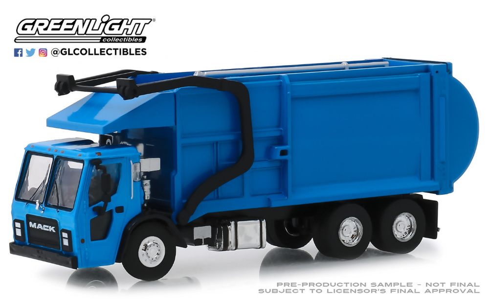 Camión de recogida de basura Mack LR (2019) Greenlight 1/64