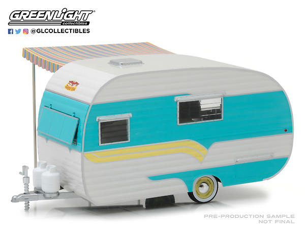 Caravana Catolac DeVille Travel Trailer (1958) Greenlight 18450A 1/24