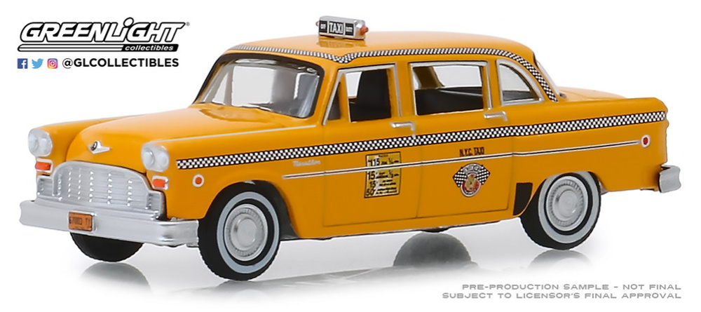 Checker Motors Marathon A11 N.Y.C. Taxi (1981) Greenlight 1/64