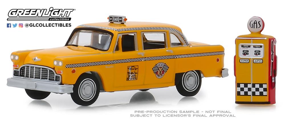 Checker Motors Marathon A11 Taxi con surtidor (1978) Greenlight 1/64