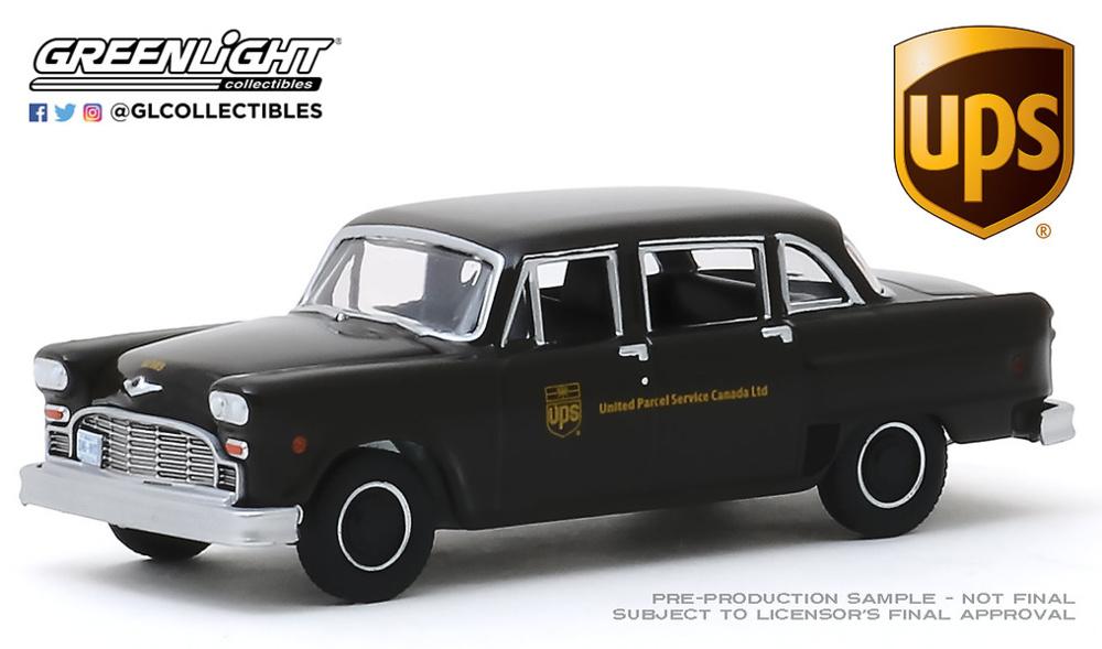 Checker Taxi - version reparto UPS 1975 Greenlight 1/64