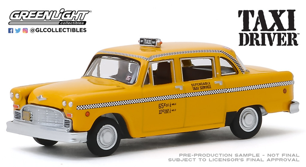Taxi Driver (1976) - Travis Bickle's 1975 Checker Taxicab Greenlight 1/64