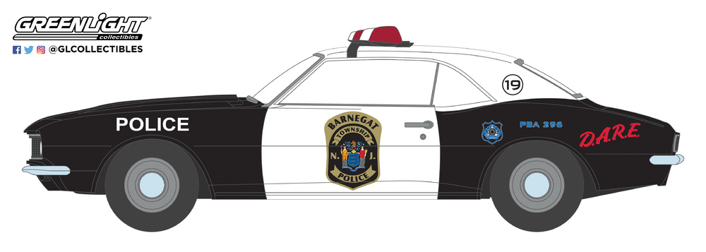 Chevrolet Camaro Custom - Policia del Municipio de Barnegat - New Jersey (1967) Greenlight 1/64