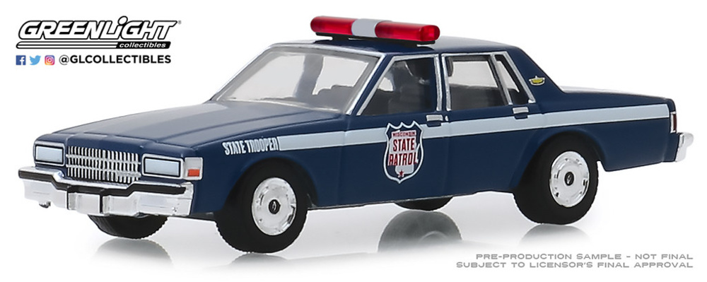 Chevrolet Caprice - Wisconsin State Patrol 80th Anniversary (1989) Greenlight 1/64