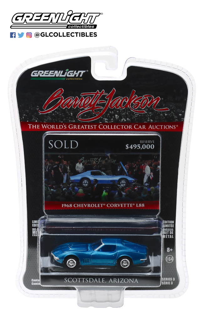 Chevrolet Corvette L88 - Lote 1418 (19689 greenlight 37160B 1/64