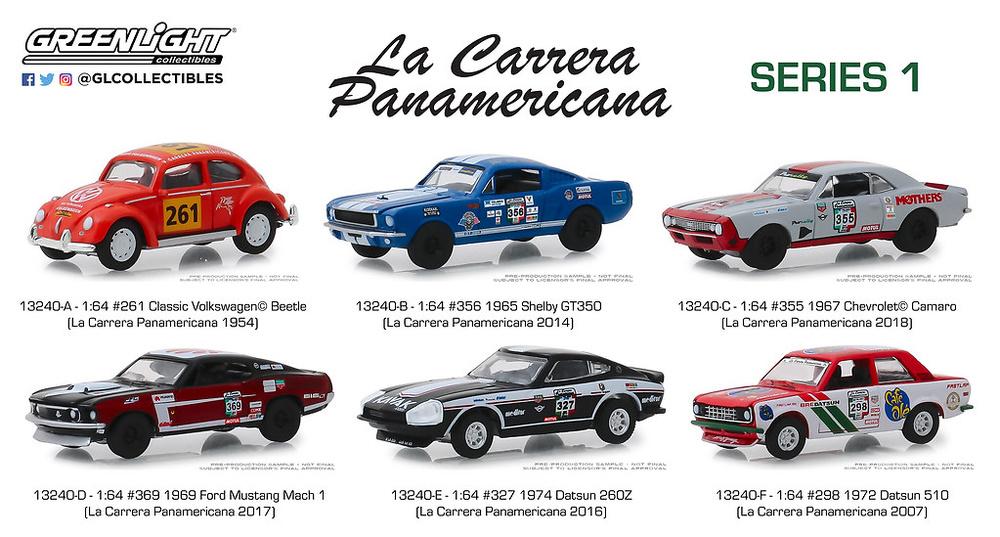 1972 Datsun 510 #298 13240F* La Carrera Panamericana Series 1 Greenlight