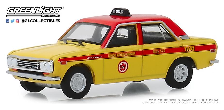 Datsun 510 Sedán - Custom Taxi (1970) BRE Greenlight 1/64