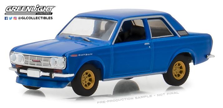 Datsun 510 - Serie Tokio Torque 2 (1968) Azul Greenlight 1/64