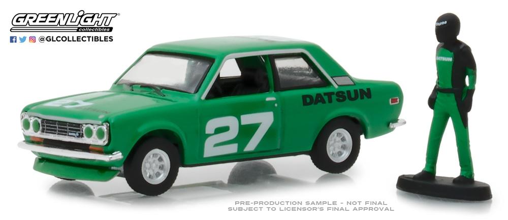 Datsun 510 con figura de piloto (1970) Greenlight 97050C 1/64