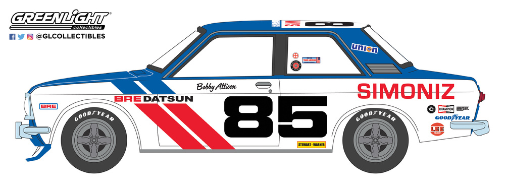 Datsun 510 nº 85 BRE Bobby Allison (1972) Greenlight 47010D 1/64