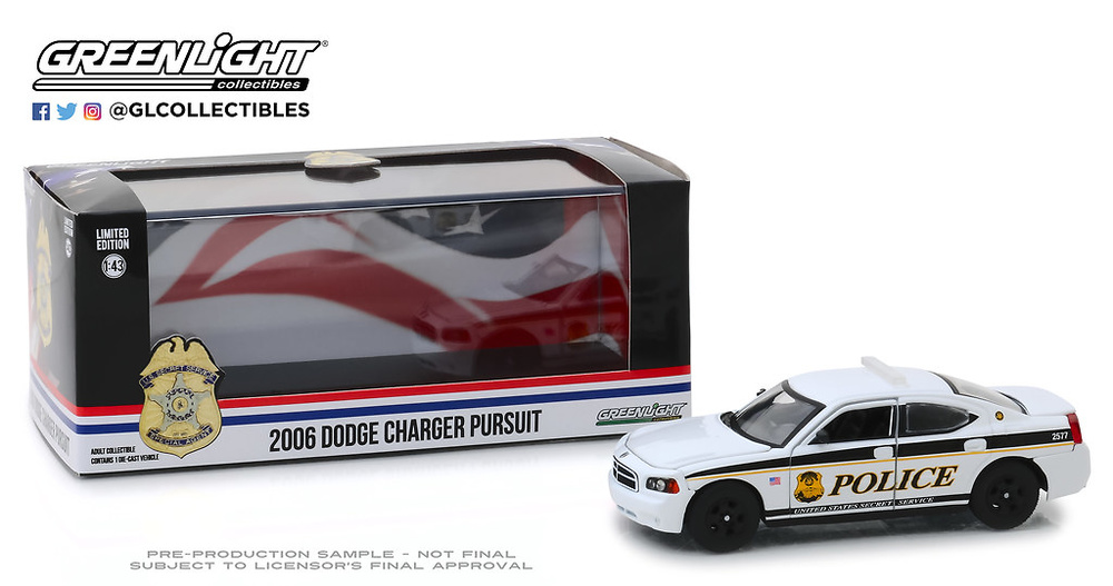 Dodge Charger United States Secret Service Police (2006) Greenlight 1:43
