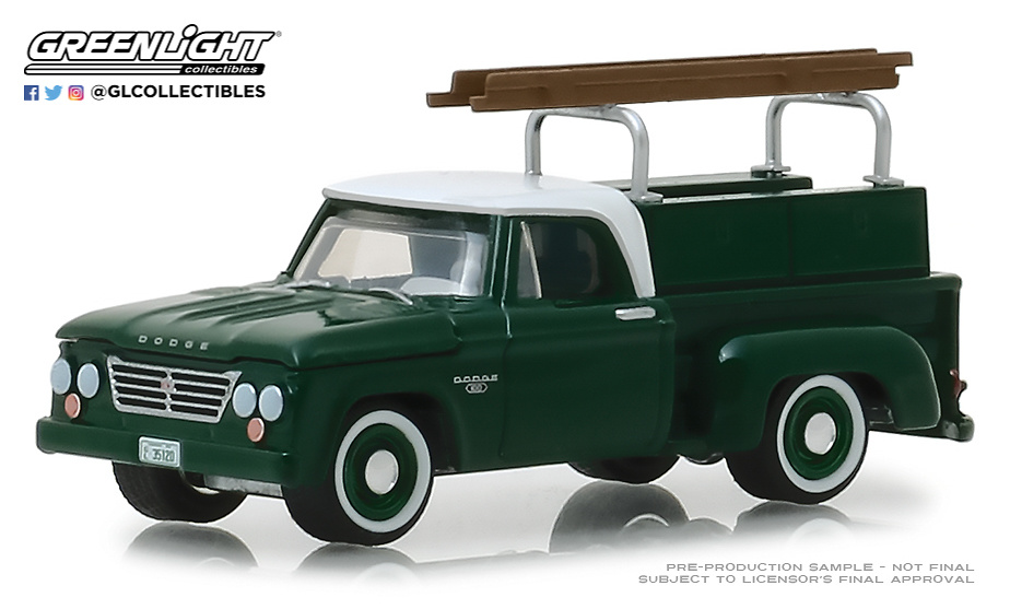 Dodge D-100 con escalera (1963) Greenlight 35120B 1/64