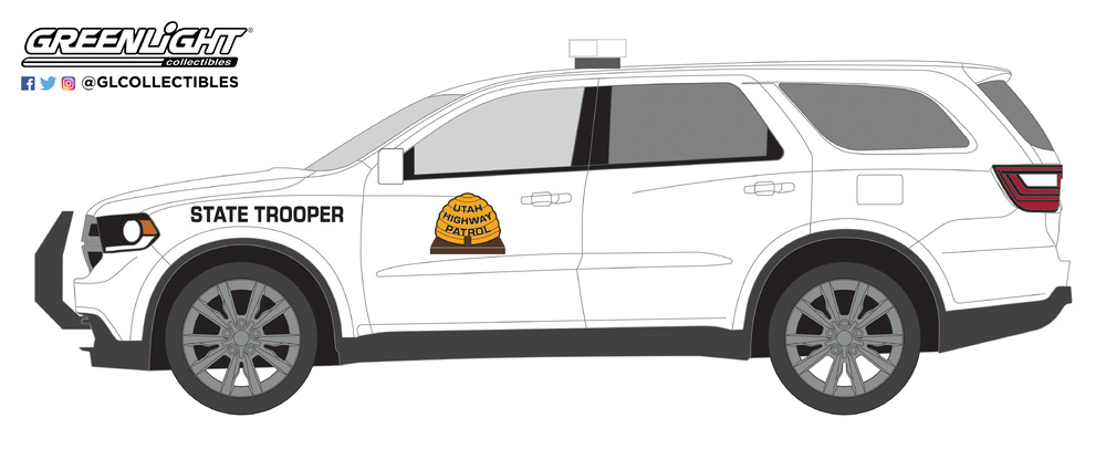 2019 Dodge Durango Pursuit Law POLICE SUV *** Greenlight Hobby 1:64 OVP