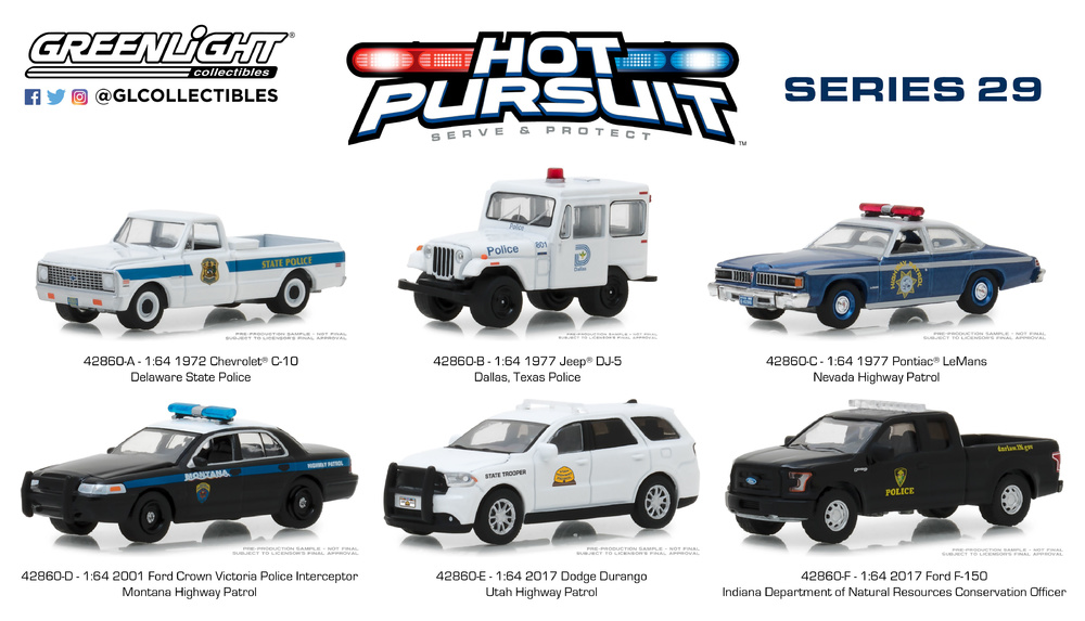 Hot Pursuit Serie 29 (2018) Greenlight 42860 1/64