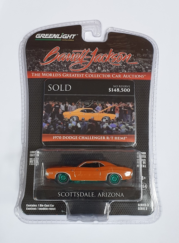 Dodge HEMI Challenger R/T - Lote 1330 (1970) Greenmachine 1/64