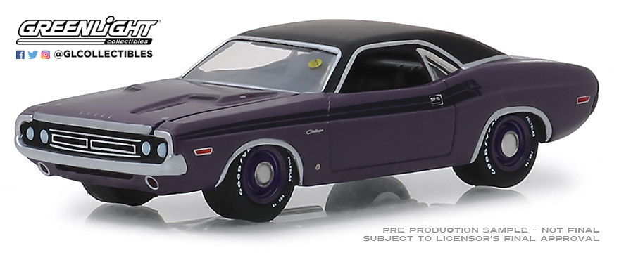 Dodge HEMI Challenger R/T Plum (1971) Greenlight 1/64