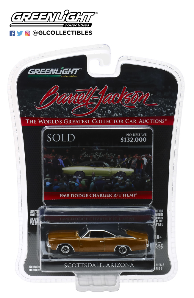 Dodge HEMI Charger R/T - Lote 1310.1 (1968) Greenlight 37160C 1/64