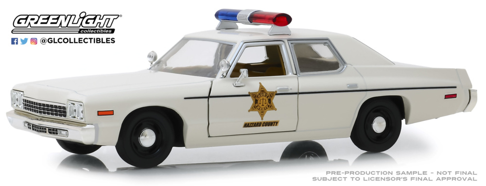 Dodge Mónaco Hazzard County Sheriff (1975) Greenlight 1:24