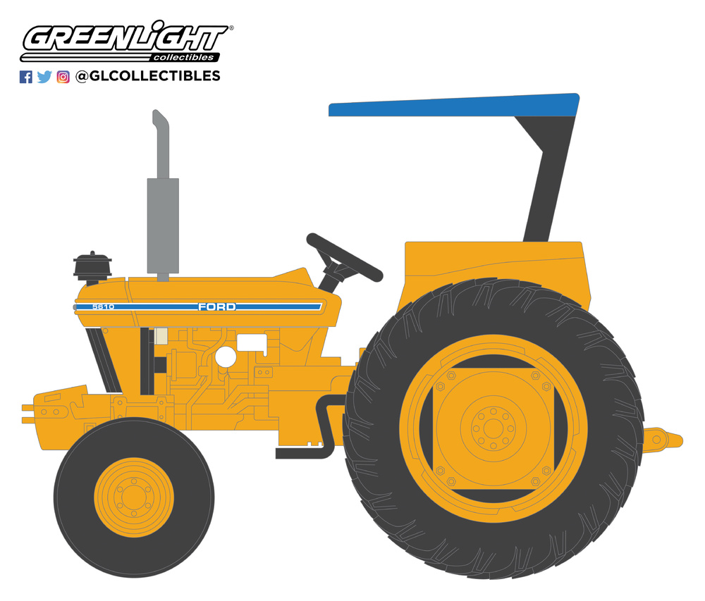Ford 5610 Tractor (1986) Greenlight 48020D 1/64