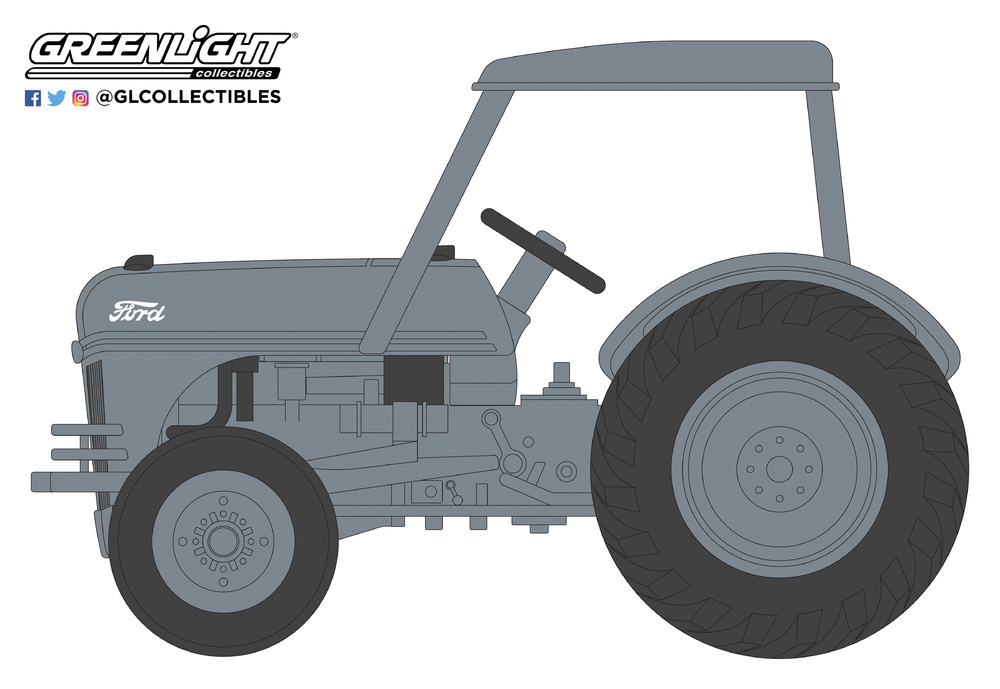 Ford 8N Tractor con Cabina (1949) Greenlight 48020B 1/64