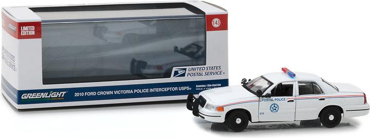 Ford Crown Victoria - Policía interceptora del correo postal (USPS) Greenlight 1/43