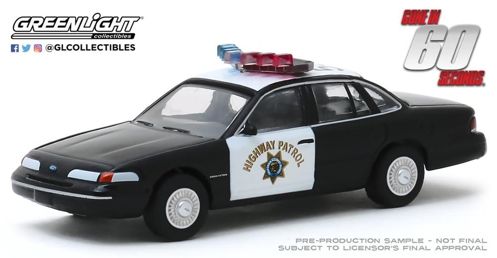 Ford Crown Victoria Police pelicula 60 segundos Greenlight 1/64