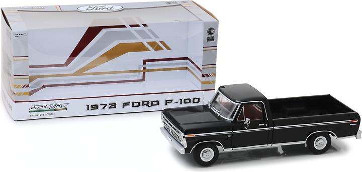 Ford F-100 Negro (1973) Greenlight 1/18