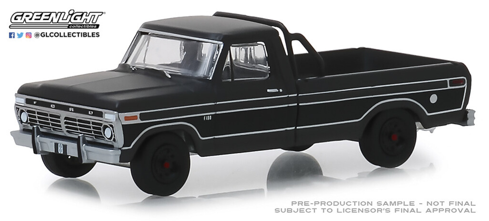 Ford F-100 Serie Black Bandit 21 (1975) Greenlight 1/64