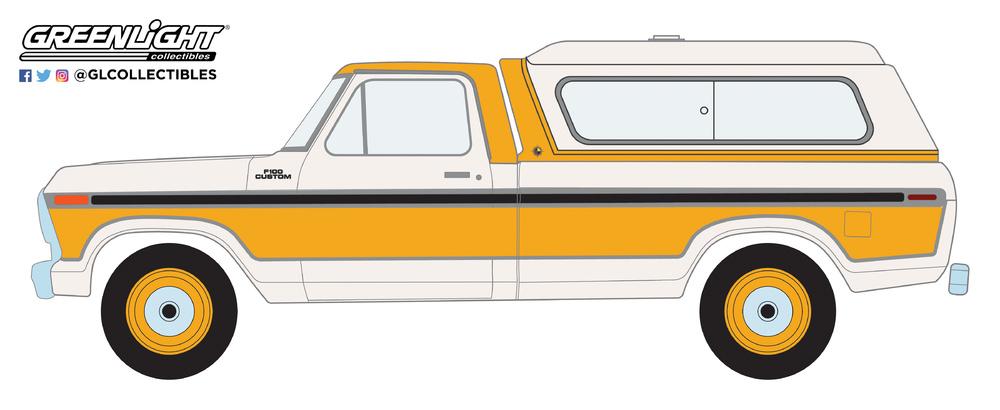 Ford F-100 con Camper Shell (1977) Greenlight 35120D 1/64