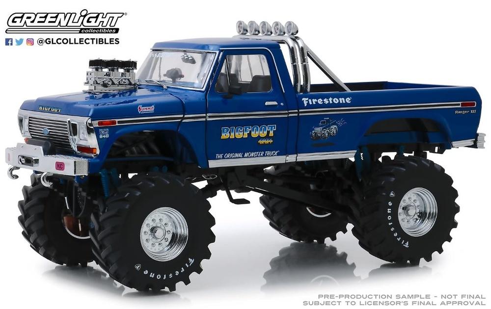 Ford F-250 Monster Truck Bigfoot #1 - 1974 GreenLight 13537 escala 1/18