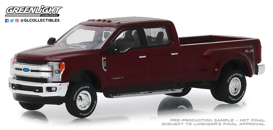 Ford F-350 Lariat Rojo (2018) Greenlight 1/64