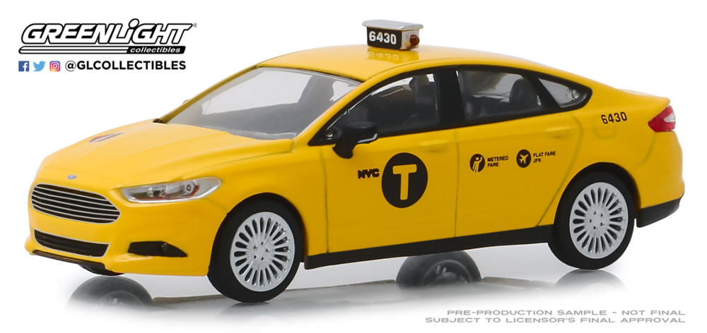Ford Fusion - NYC Taxi (2013) Greenlight 1/43