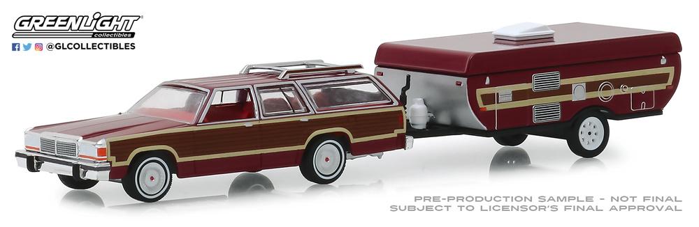 Ford LTD Country Squire con Caravana Plegable (1981) Greenlight 1/64