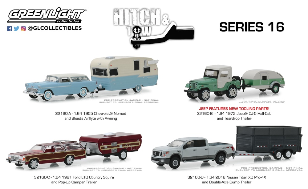 Hitch & Tow serie 16 Greenlight 32160 1/64