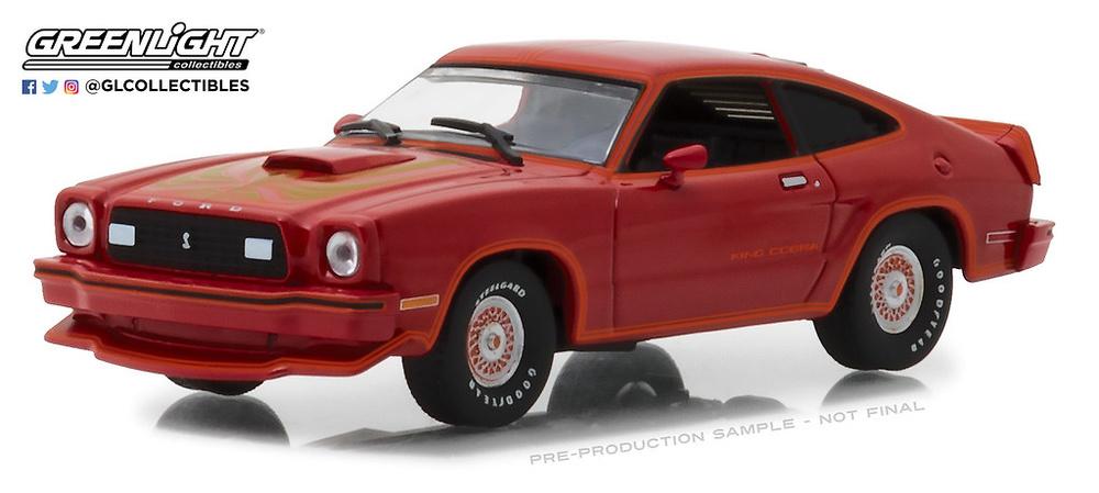 Ford Mustang King Cobra II (1978) Rojo y Negro Greenlight 1/43