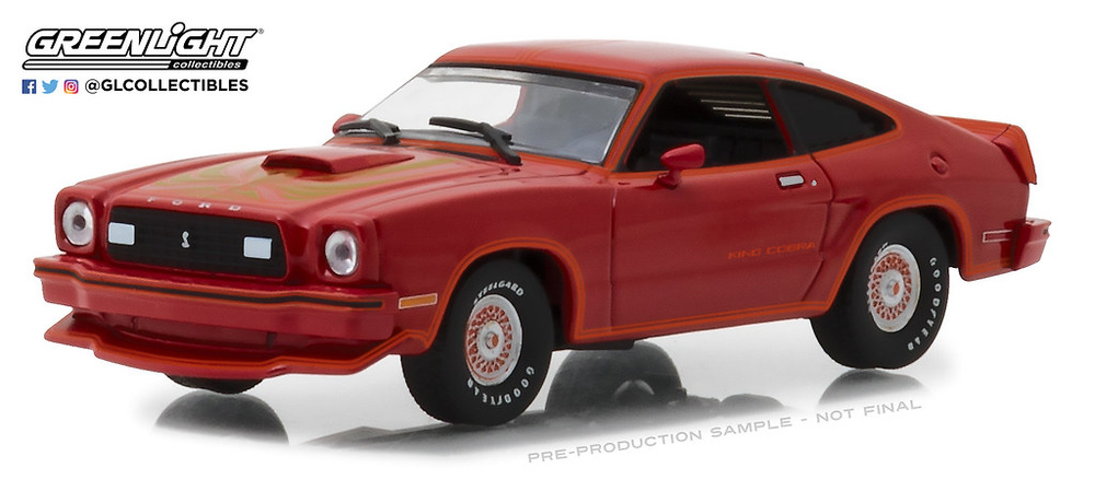 Ford Mustang King Cobra II (1978) Rojo y Negro Greenlight 1/43