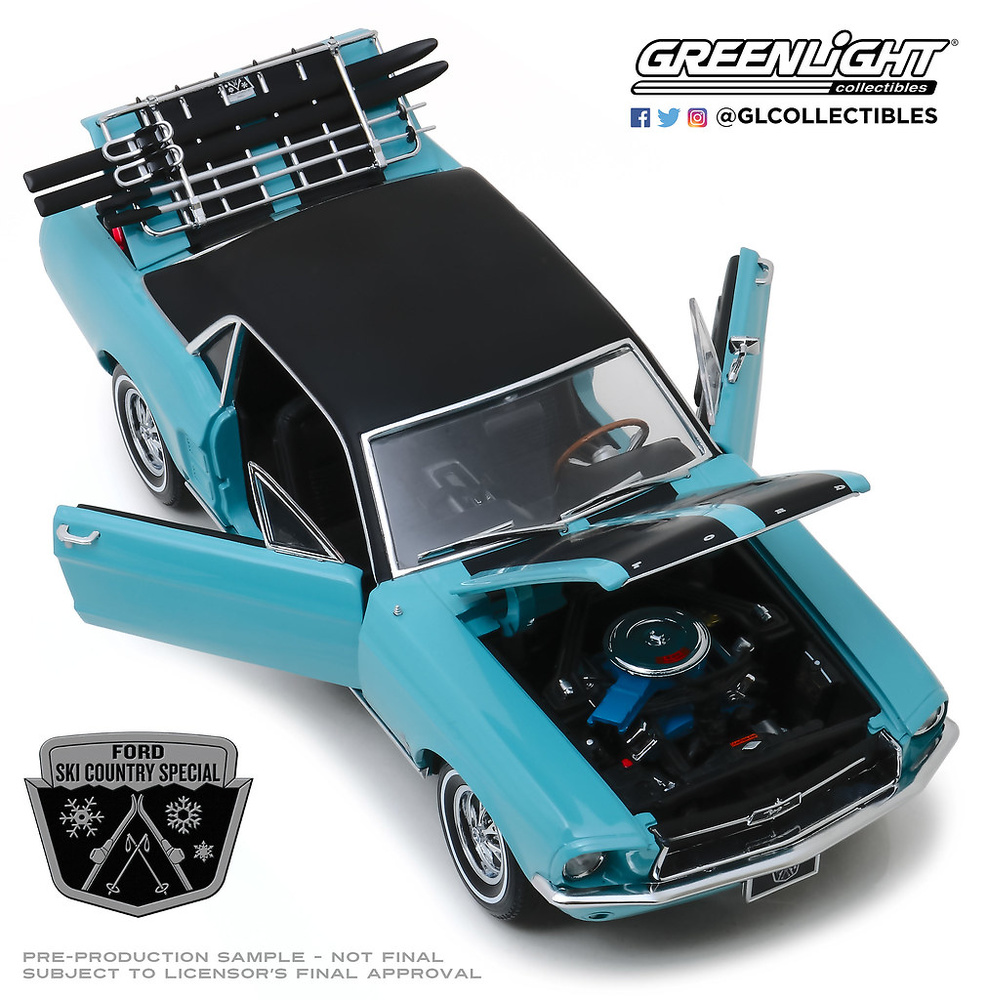 1967 ford mustang-ski Country Special *** GreenLight 1:64 OVP ** sale **