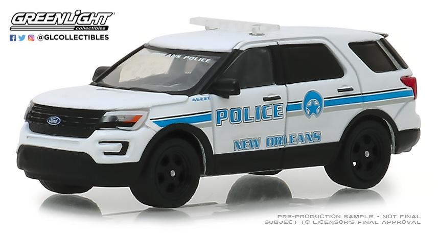 Ford Police Interceptor Utility - New Orleans, Louisiana Police (2016) Greenlight 42870E 1/64