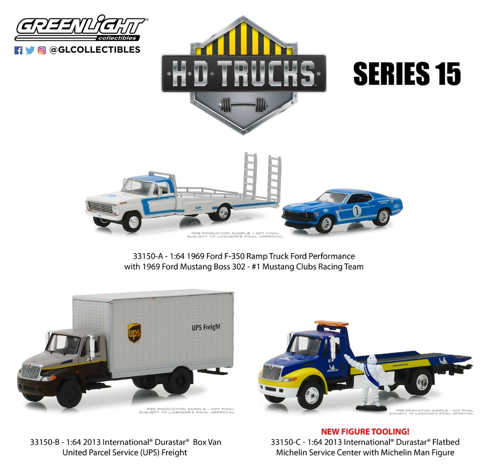 H. D. Trucks Serie 15 Greenlight 33150 1/64