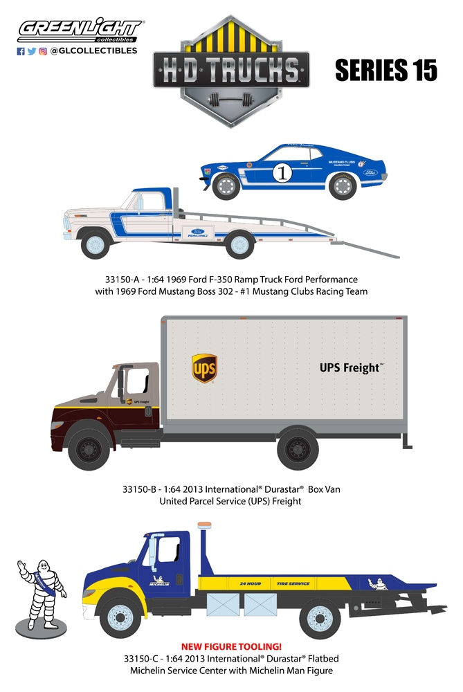 H. D. Trucks Serie 15 Greenlight 33150 1/64