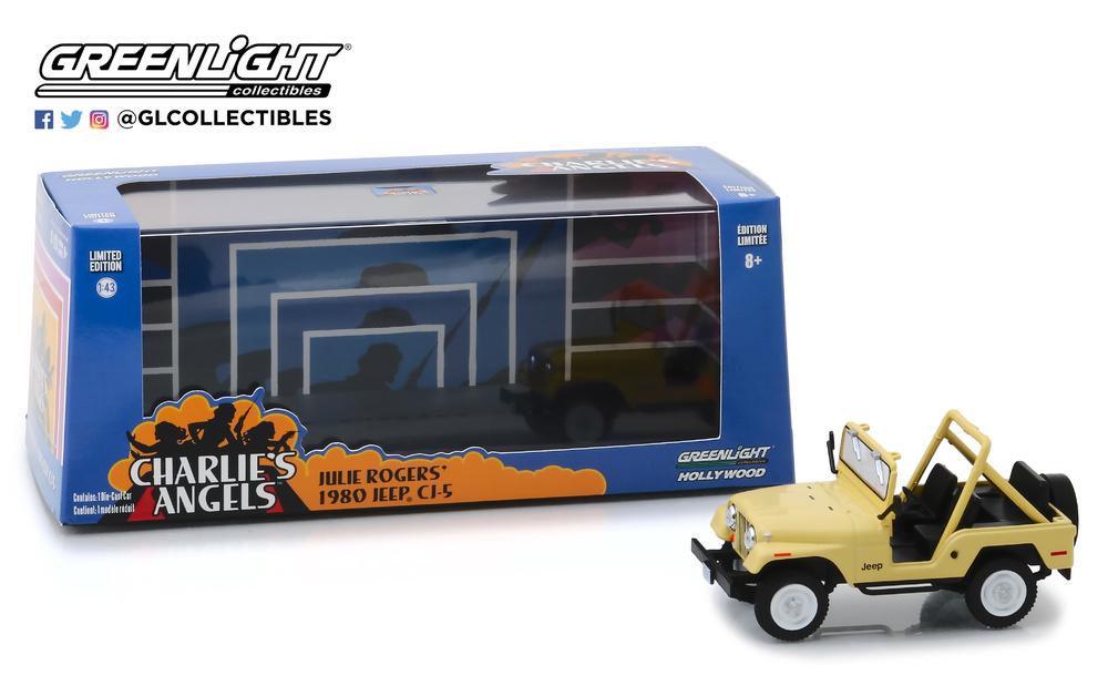 1//43 Jeep Cj 5-Los Ángeles de Charlie 1980-86333 Greenlight Collectibles