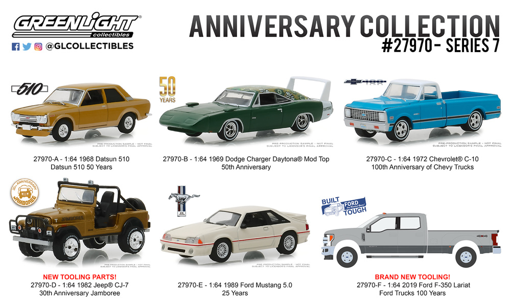 Anniversary Collection Serie 7 (2019) Greenlight 27970 1/64