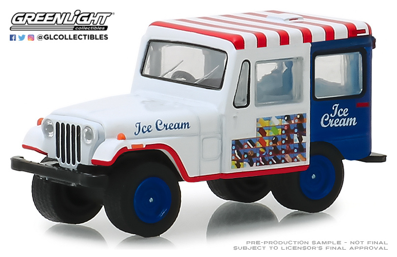 Jeep DJ5 Transporte de Helados (1975) Greenlight 30005 1/64