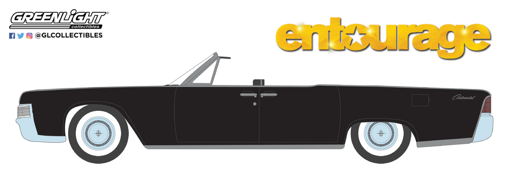 Lincoln Continental Convertible de 1965 Entourage (2004-2011 TV Series) Greenlight 44820D 1/64