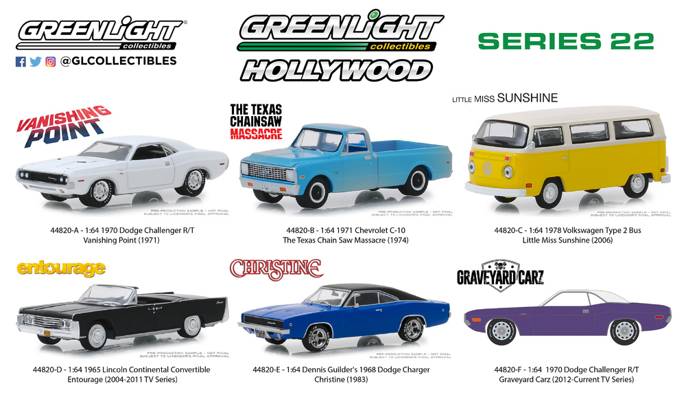 Lincoln Continental Entourage TV limitado GreenLight hollywood 1:64 OVP