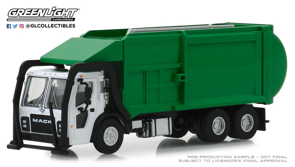 Mack LR Camión recogida basura (2019) Greenlight 45060C 1/64