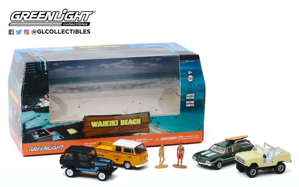 Multi-Car Dioramas - Waikiki Beach Summer Bash Greenlight 1/64