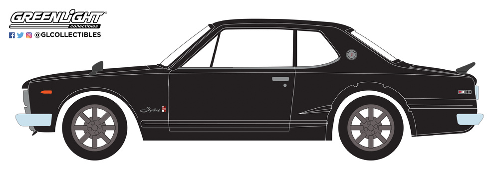 Nissan Skyline 2000 GT-R (1971) Greenlight 47010A 1/64