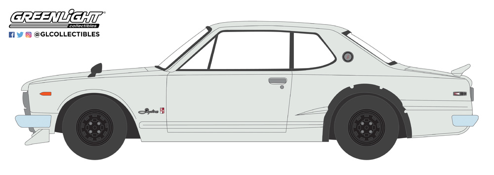 Nissan Skyline 2000 GT-R (1971) 47020B Greenlight 1/64